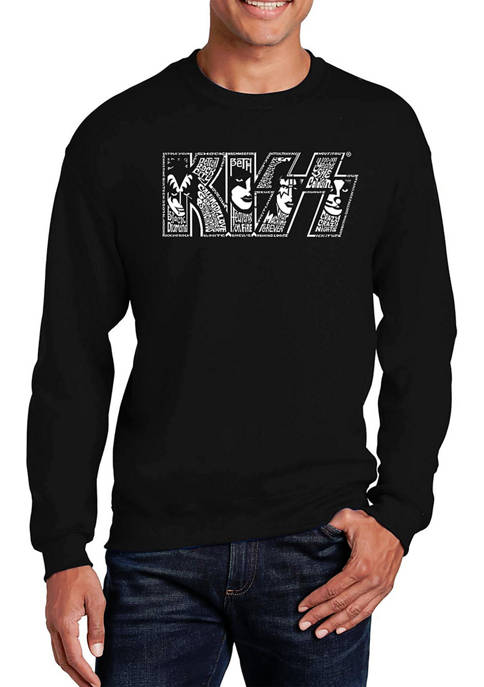 Word Art Crew Graphic Sweatshirt - KISS