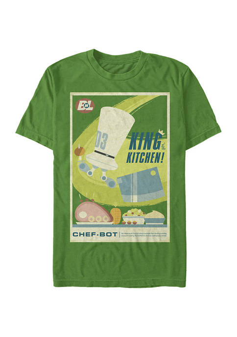 Wall-E King of the Kitchen Poster Short Sleeve Graphic T-Shirt
