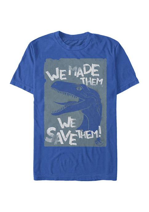 Jurassic World Save Em Short Sleeve Graphic T-Shirt