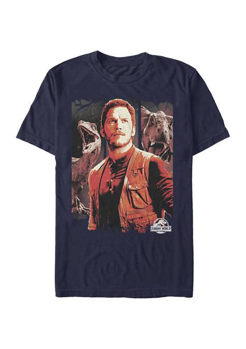 Dino Man Trifecta Graphic Short Sleeve T-Shirt