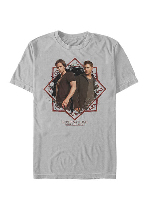 Supernatural Bros Graphic Short Sleeve T-Shirt
