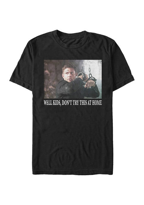 Supernatural Dont Try It Kids Graphic Short Sleeve