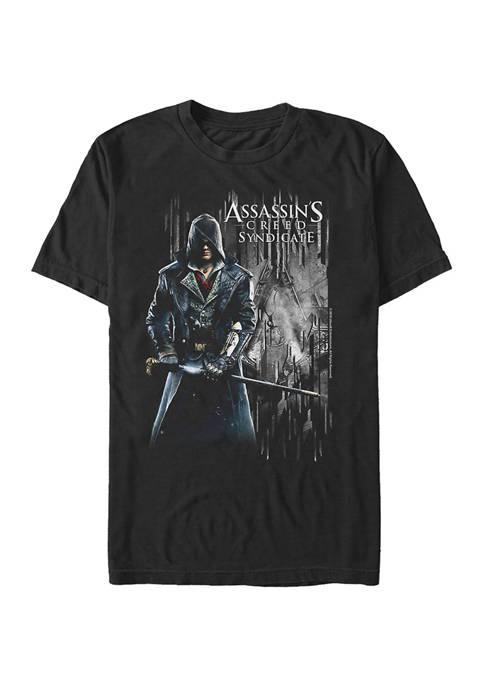 Sword Banner Graphic Short Sleeve T-Shirt