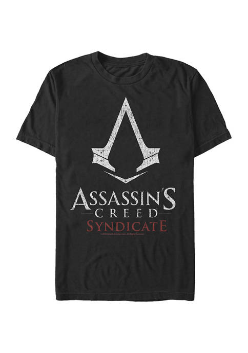 Syndicate White Logo Graphic Short Sleeve T-Shirt