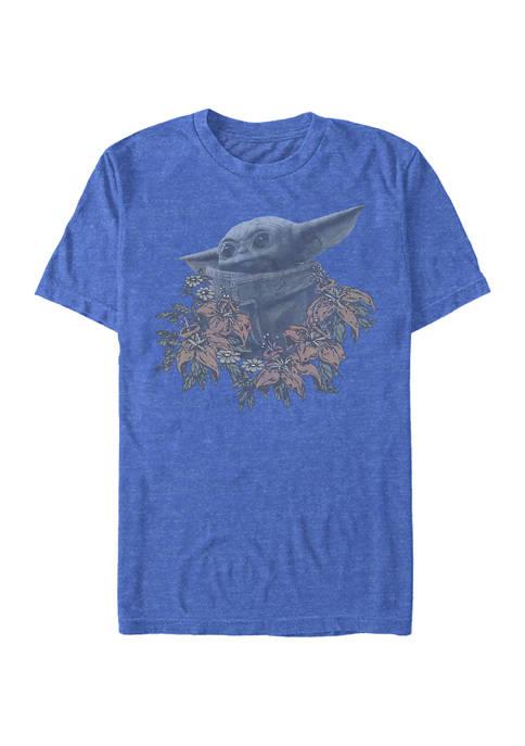 The Mandalorian Flower Child Short Sleeve Graphic T-Shirt