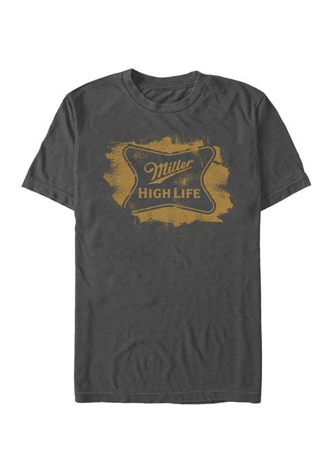 Miller Coors Brewing Company - High Life Brushed Graphic Short Sleeve T-Shirt