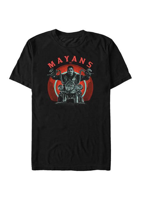 Mayans Ride Graphic Short Sleeve T-Shirt