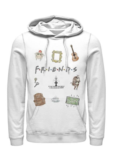 Friends Icons Graphic Fleece Hoodie