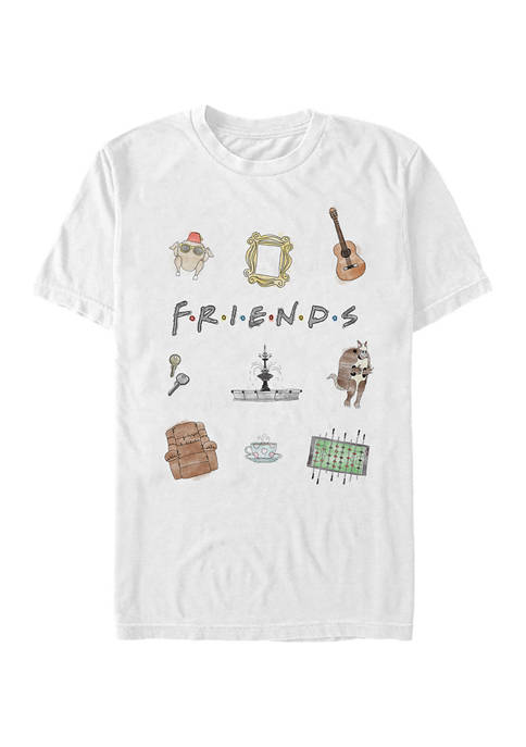 Friends Icons Graphic Short Sleeve T-Shirt