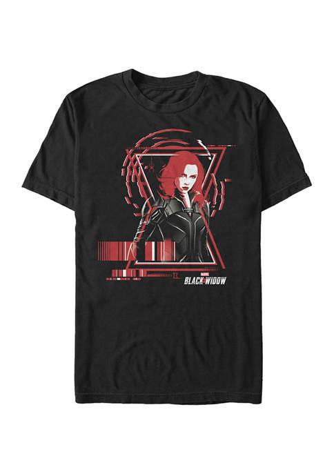 Widow Barcode Graphic Short Sleeve T-Shirt