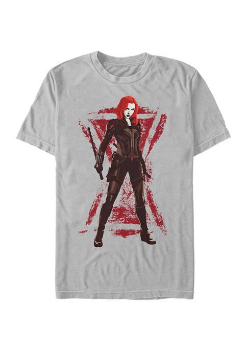 Black Widow Standing Graphic Short Sleeve T-Shirt