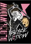 Black Widow Retro Graphic Crew Fleece Sweatshirt