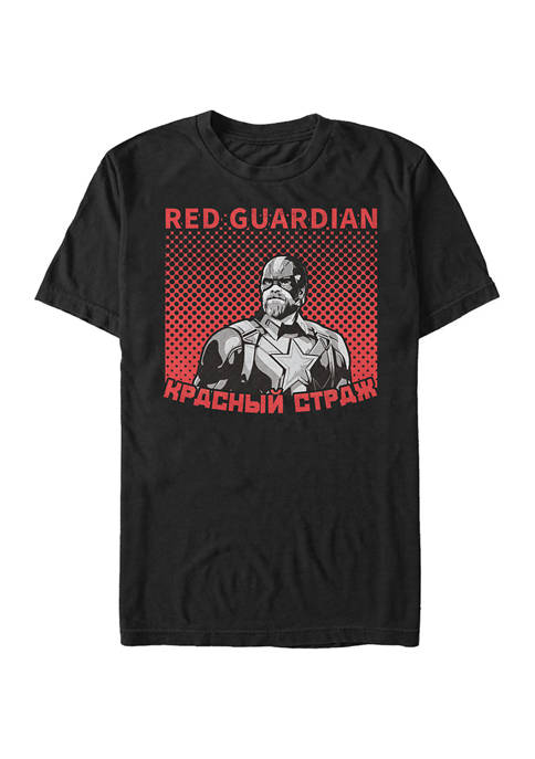 Halftone Red Guardian Graphic Short Sleeve T-Shirt