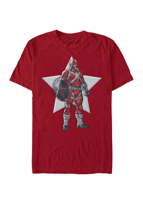 Serious Red Guardian Graphic Short Sleeve T-Shirt