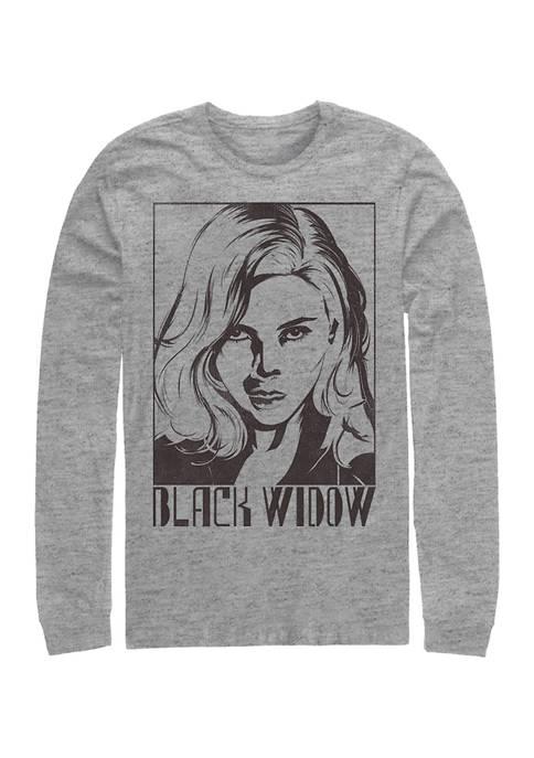 Marvel™ Tie Dye Widow Graphic Long Sleeve T-Shirt