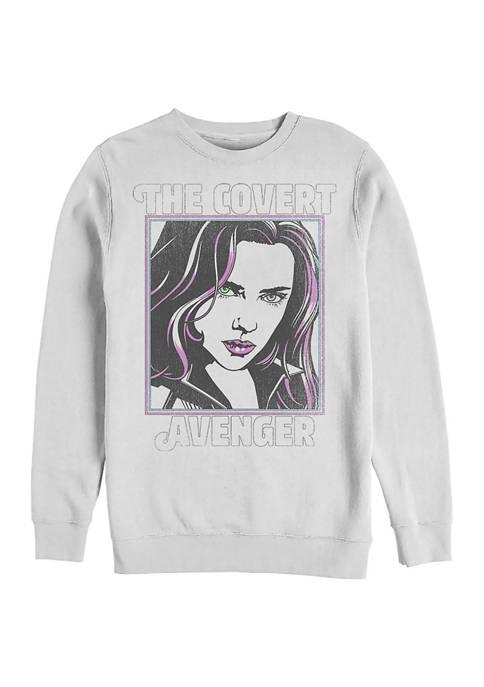Retro Pop Widow Graphic Crew Fleece Sweatshirt