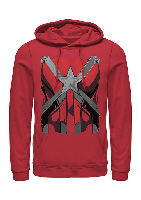 Red Guardian Costume Graphic Fleece Hoodie