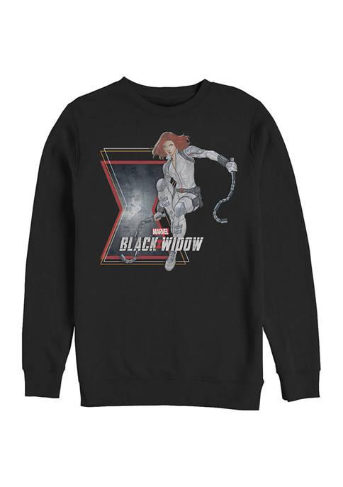 Widow Stun Graphic Crew Fleece Sweatshirt