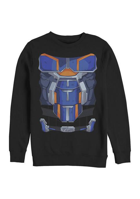 Taskmaster Costume Graphic Crew Fleece Sweatshirt