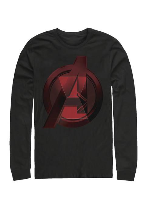 Widow Avenger Logo Graphic Long Sleeve T-Shirt