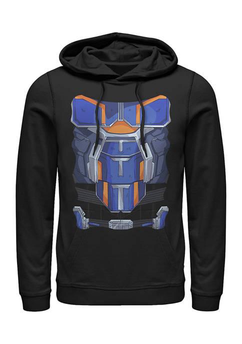 Taskmaster Costume Graphic Fleece Hoodie