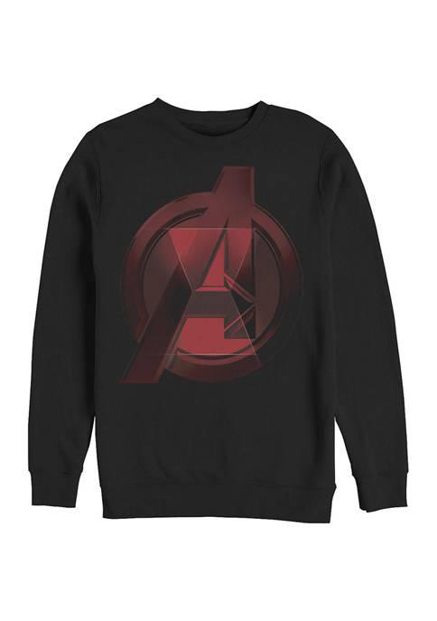 Widow Avenger Logo Graphic Crew Fleece Sweatshirt