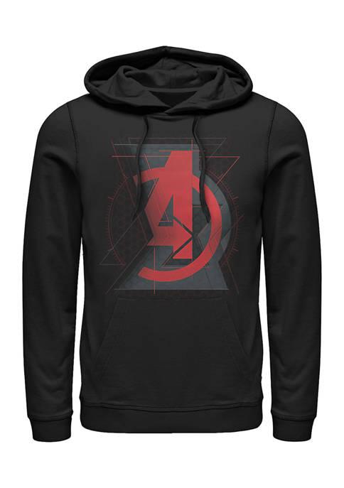 Avengers Widow Logo Graphic Fleece Hoodie