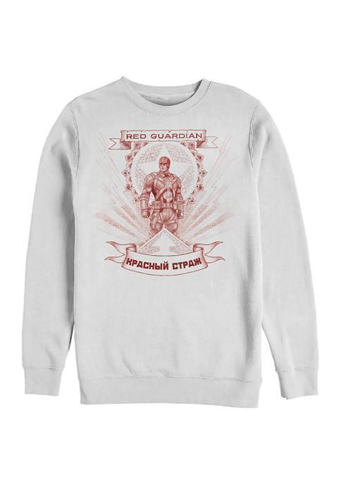 Guardian of Red Graphic Crew Fleece Sweatshirt
