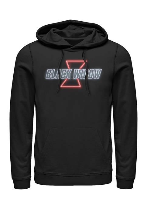 Black Widow Neon V2 Graphic Fleece Hoodie