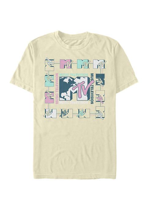 Music Square Graphic Short Sleeve T-Shirt