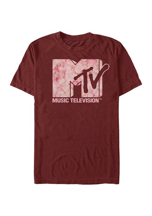 MTV Roses Are Pink Graphic Short Sleeve T-Shirt