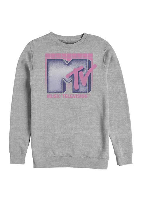 MTV 80s Graphic Crew Fleece Sweatshirt