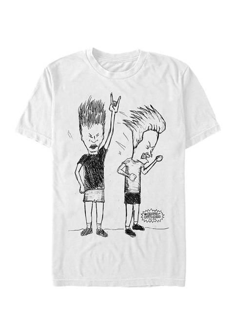 MTV Rock Sketch Graphic Short Sleeve T-Shirt