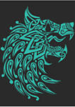 Wolf Face Graphic Short Sleeve T-Shirt