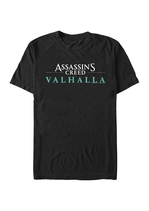 Valhalla Text Logo Graphic Short Sleeve T-Shirt