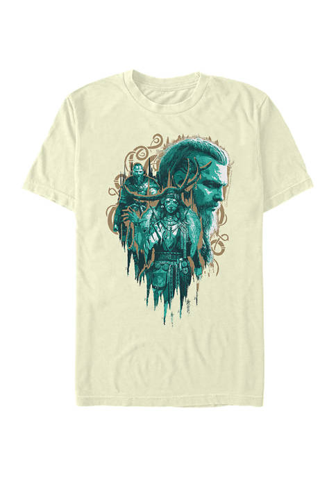Side Profile Graphic Short Sleeve T-Shirt