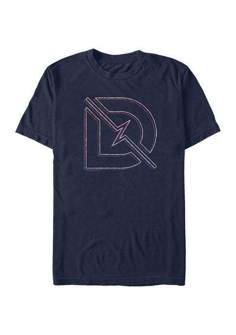 Sketch D Line Graphic Short Sleeve T-Shirt