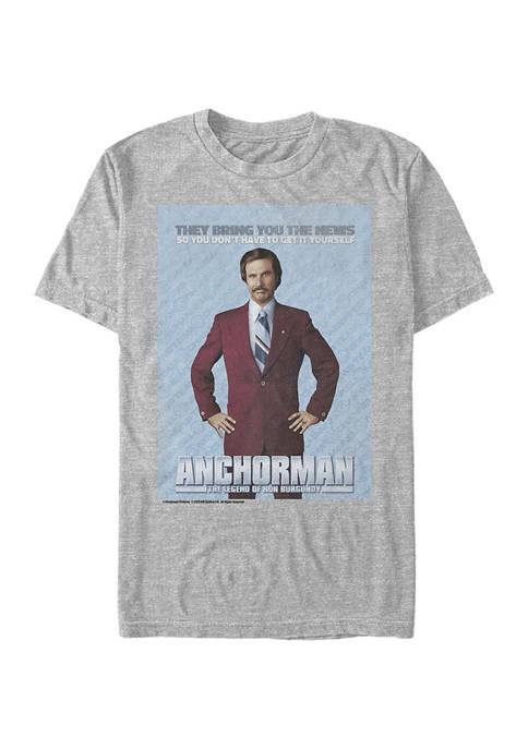 Anchorman Poster Graphic Short Sleeve T-Shirt