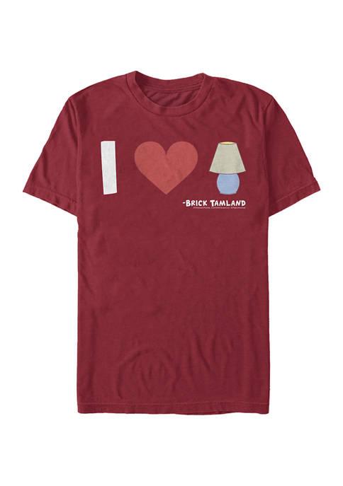 Anchorman Lamp Love Graphic Short Sleeve T-Shirt