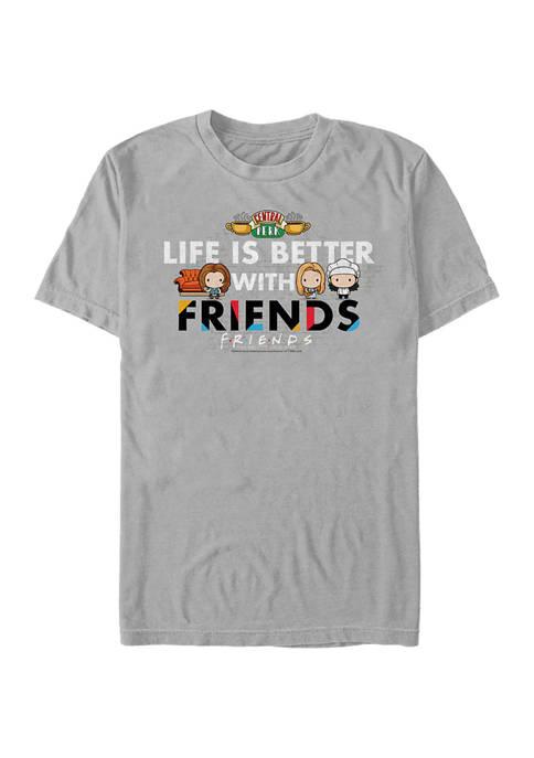 Friends Life Is Better Graphic Short Sleeve T-Shirt