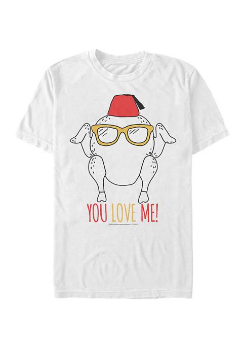 Friends Turkey Love Graphic Short Sleeve T-Shirt