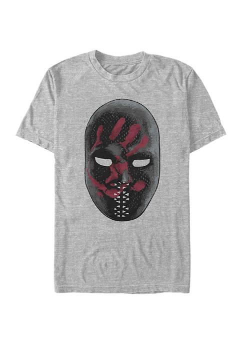 Large Mask Graphic Short Sleeve T-Shirt