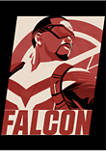 Falcon Poster Graphic Short Sleeve T-Shirt