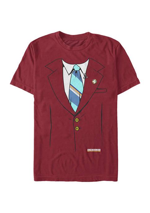 Anchorman Burgundy Jacket Graphic Short Sleeve T-Shirt
