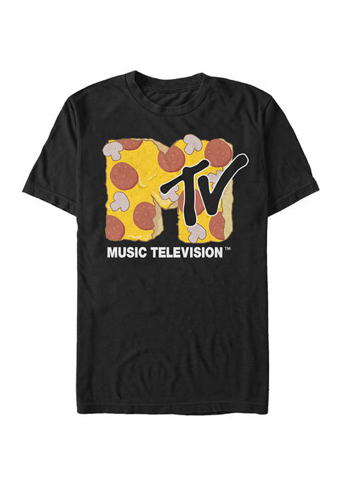 Pizza Time Graphic Short Sleeve T-Shirt
