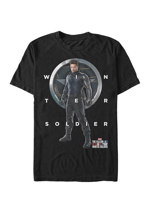 Marvel™ Winter Soldier Grid Text Graphic Short Sleeve