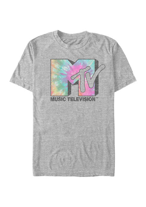 MTV Tie Dye Logo Graphic Short Sleeve T-Shirt
