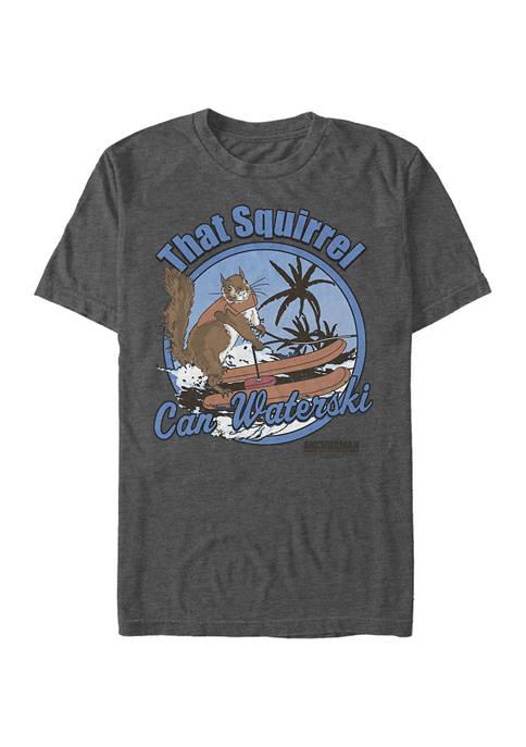 Anchorman Squirrel Graphic Short Sleeve T-Shirt