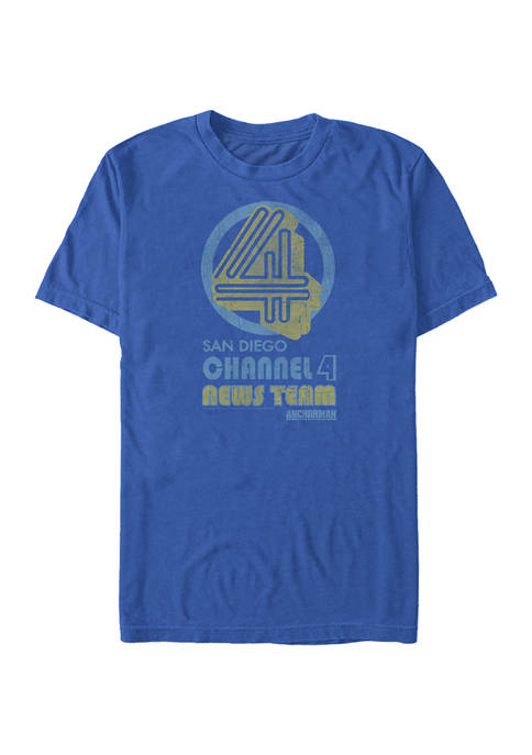 Anchorman Channel Four Graphic Short Sleeve T-Shirt