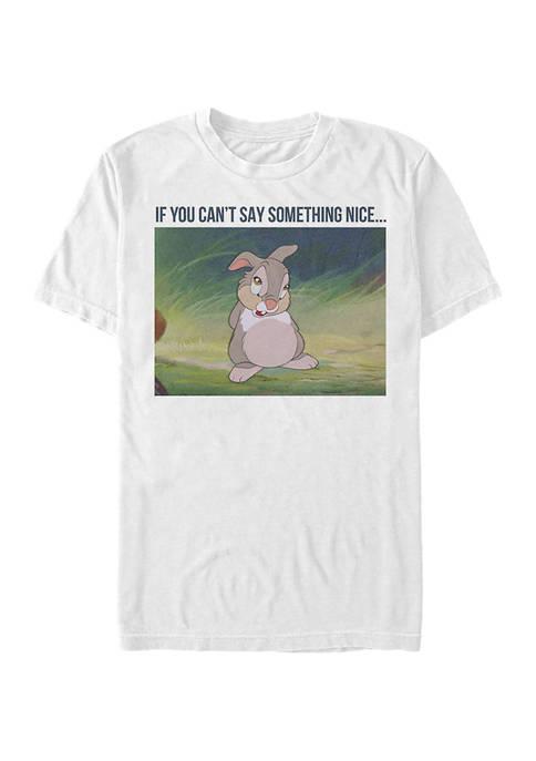 Disney® Juniors Thumper Meme Graphic Short Sleeve T-Shirt